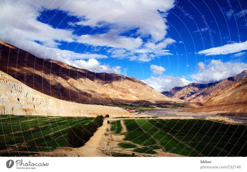 Natur Himmel grün Sommer Ferien & Urlaub & Reisen Wolken Wiese Berge u. Gebirge Landschaft hoch Tourismus Asien wild Hügel China