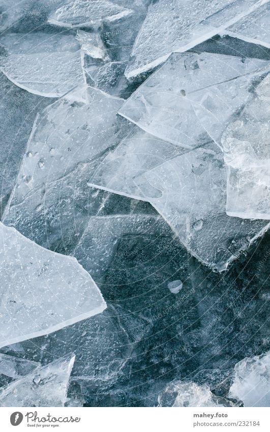 Eiszeit Natur blau Winter kalt grau Hintergrundbild Klima gefährlich Frost Spitze Symbole & Metaphern dünn Seeufer Jahreszeiten gebrochen