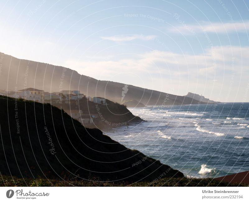 Westcoast Himmel Wasser Ferien & Urlaub & Reisen Meer Wolken Einsamkeit Haus Landschaft Bewegung Küste Gebäude Wellen Felsen Nebel Tourismus Insel