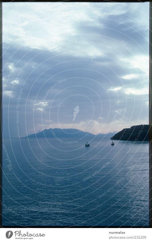 Trübe Aussichten Himmel Natur Wasser Ferien & Urlaub & Reisen Meer Ferne Erholung Umwelt Landschaft Freiheit Stimmung Horizont natürlich Ausflug Tourismus Insel