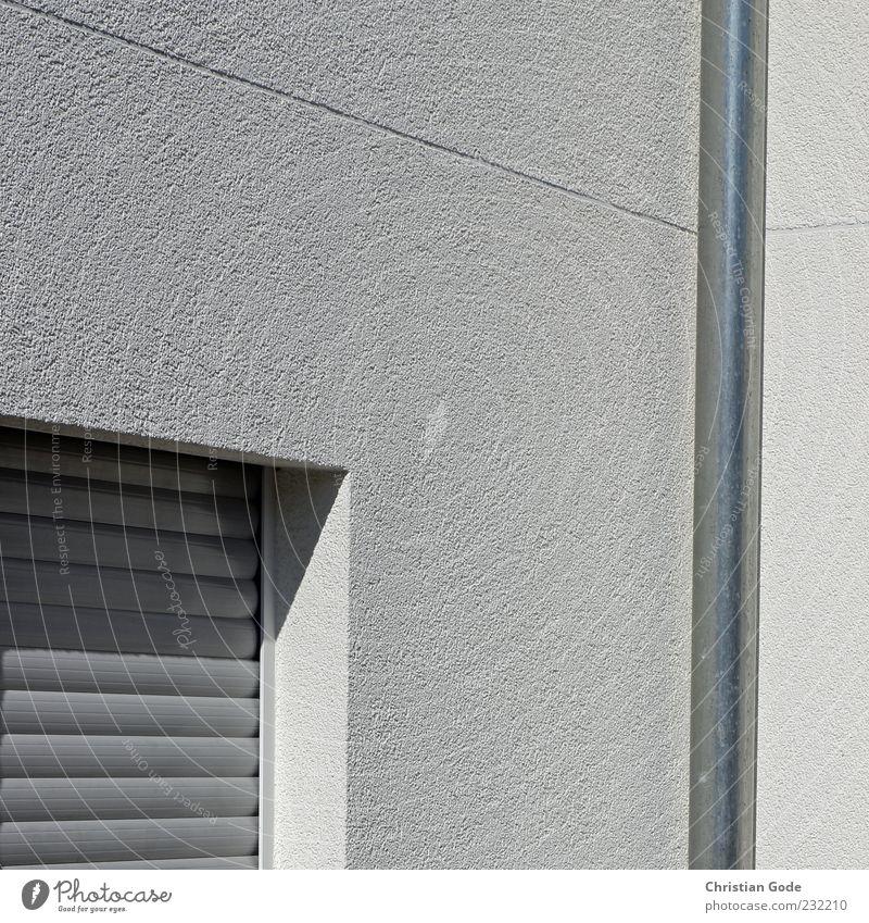 Flucht nach Vorne Haus Fenster Wand Architektur grau Mauer Gebäude Metall Fassade geschlossen Autofenster Platz Ecke Kunststoff Bauwerk diagonal