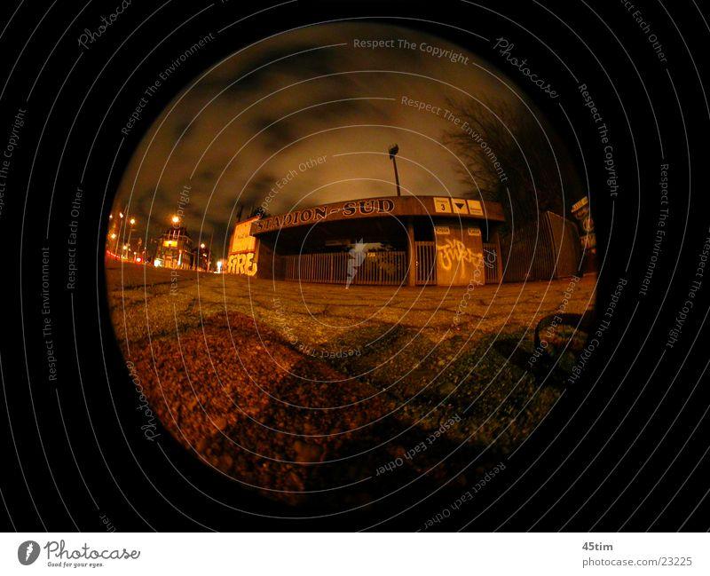 Südstadion bei Nacht Architektur Köln Stadion Fischauge Nachtaufnahme