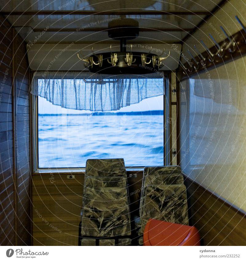 Vergessen Natur Wasser Einsamkeit ruhig Ferne Umwelt Leben Fenster Freiheit Bewegung See Horizont Wind ästhetisch Lifestyle Stuhl