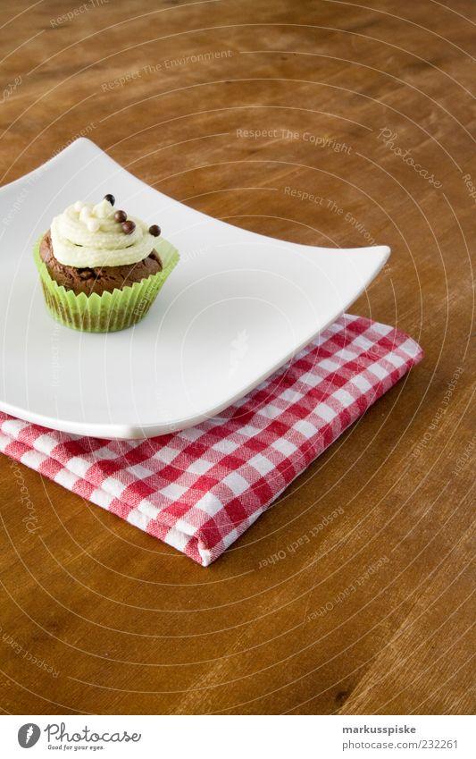 Cupcake Lebensmittel Ernährung genießen Süßwaren Stress Teller Amerika Fressen Schokolade kariert Torte Sucht Dessert Handtuch Erfahrung Maserung