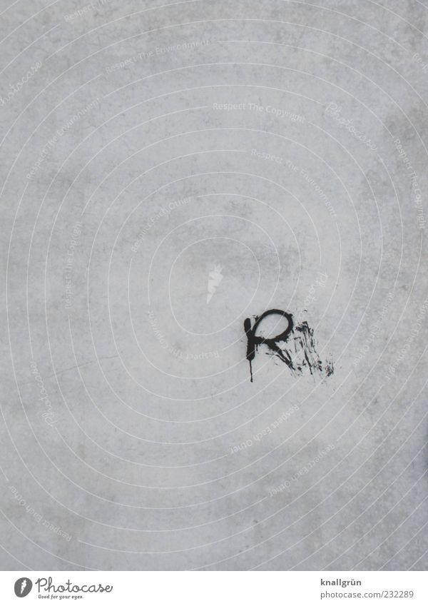 ER Mauer Wand Fassade Putzfassade Schriftzeichen Graffiti schwarz weiß verschmiert beschmiert Großbuchstabe Schwarzweißfoto Außenaufnahme Menschenleer