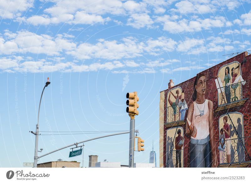 NYC5 New York City Skyline USA Stadt Brooklyn Graffiti Wandmalereien Verkehr Stadtleben