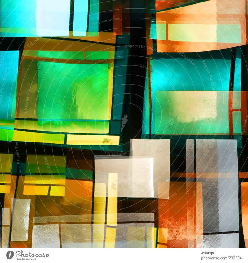 Stacked Stil Design Kunst Glas Linie leuchten außergewöhnlich Coolness trendy einzigartig mehrfarbig chaotisch Farbe Surrealismus Dekoration & Verzierung Mosaik