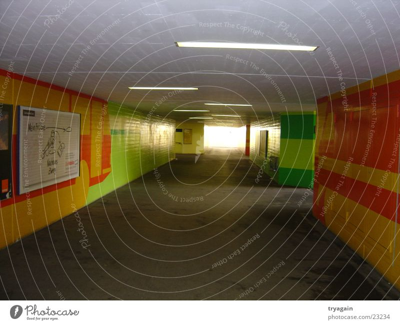 Unterführung Architektur Beton Tunnel Lichtspiel Durchgang