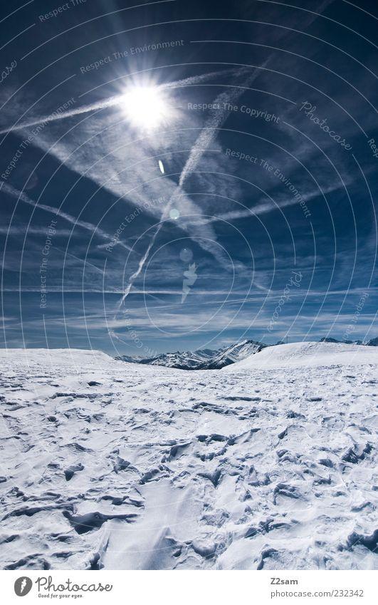 lieblingsplatzerl im winter Himmel Natur blau Ferien & Urlaub & Reisen Sonne Winter Wolken ruhig Ferne Erholung kalt Umwelt Schnee Landschaft Berge u. Gebirge