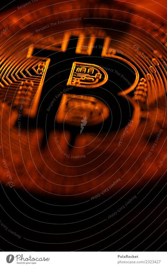 #A# Golden Bitcoin Technik & Technologie Krise Kunst ästhetisch Nahaufnahme Kryptowährung Geld Kupfer Medienrummel Kapitalismus Symbole & Metaphern