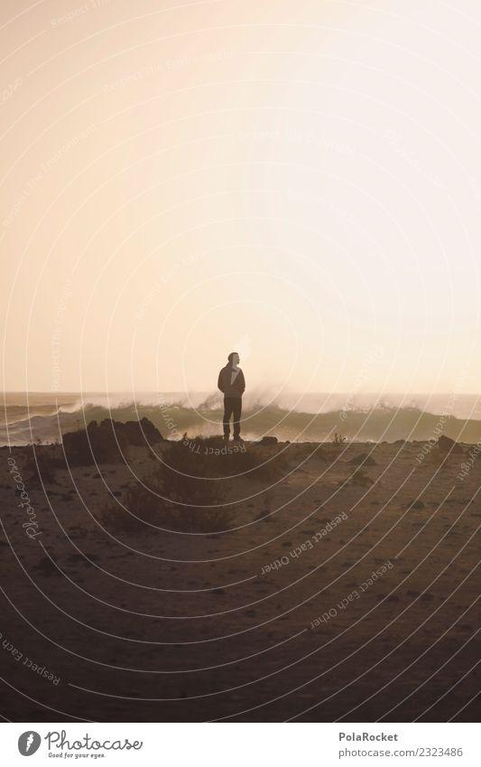 #AS# Mann will Meer? Natur Glück Sonnenuntergang Sand Wüste Wellen Wind genießen Freiheit Ferien & Urlaub & Reisen nachdenklich Religion & Glaube Fuerteventura