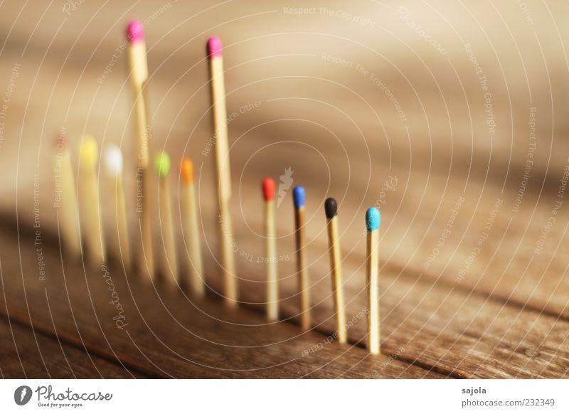 im brennpunkt stehen Zusammensein Ordnung Team Teamwork Zusammenhalt Vielfältig Holz mehrfarbig multikulturell Streichholz aufgereiht Gesellschaft (Soziologie)