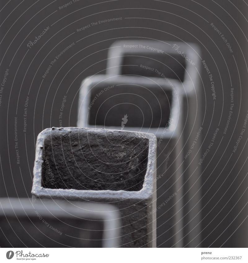 QRO grau Metall 3 Stahl Zaun Quadrat Eisenrohr vertikal Rechteck Material Richtung 4