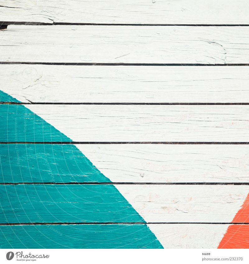 Farbbogen Mauer Wand Fassade Holz Zeichen Linie Streifen trocken weiß Farbe Verfall Vergänglichkeit Zaun Holzbrett Bogen orange Hintergrundbild türkis Holzwand