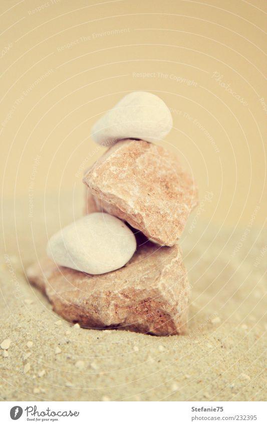 Kleiner Turm Natur Sand Dekoration & Verzierung Stein Blick träumen Häusliches Leben ästhetisch einfach schön natürlich weich braun weiß Freude Fröhlichkeit