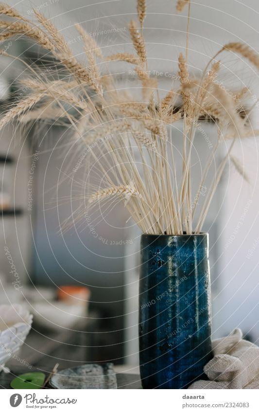 Eine Vase von trockener Schönheit Keramik Lifestyle elegant Stil Design Freude Leben harmonisch Sommer Häusliches Leben Wohnung Haus Traumhaus Innenarchitektur