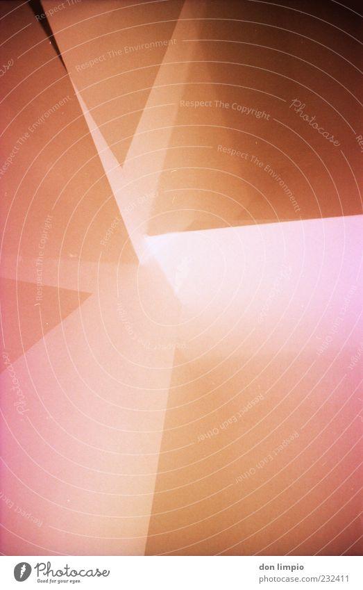 ein echter .marqs ... Wand Architektur Mauer Hintergrundbild Innenarchitektur rosa Stern (Symbol) leuchten analog Doppelbelichtung Textfreiraum eckig Schatten Lichtstrahl