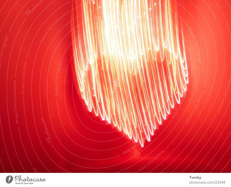 Herzflattern Licht Weihnachtsdekoration Langzeitbelichtung Liebe Ampel Bewegung