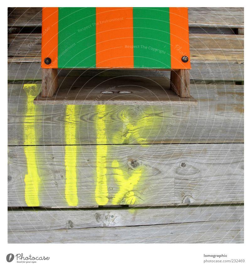 Strandkorbgrenze Sommer ruhig Erholung Umwelt Freiheit Holz Frühling Wetter Schilder & Markierungen Strandkorb Schneidebrett Maserung Möbel St. Peter-Ording Nordfriesland
