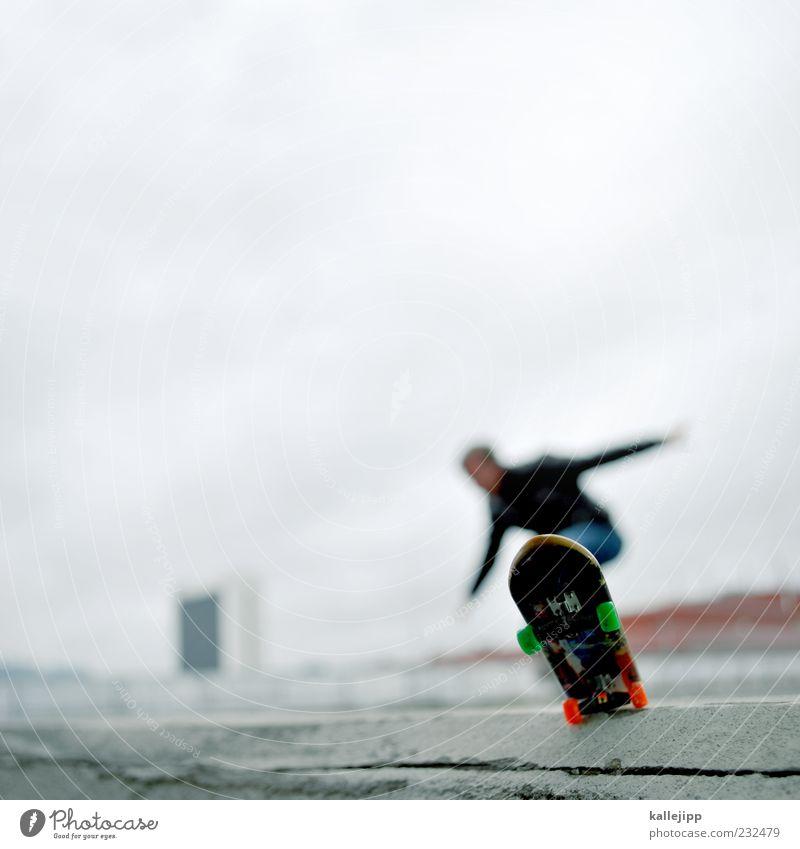 lord of the board Mensch Mann Erwachsene Sport Spielen Bewegung Mauer springen Stil maskulin Aktion Perspektive Lifestyle Ecke Skateboarding Gleichgewicht