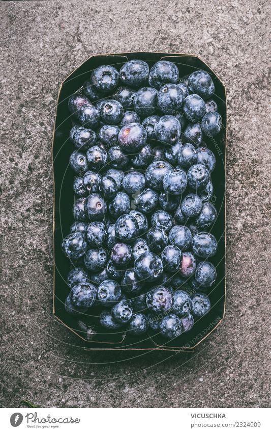 Blaubeeren Lebensmittel Frucht Dessert Ernährung Bioprodukte Vegetarische Ernährung Diät Stil Design Gesundheit Gesunde Ernährung Sommer Antioxidans Beeren