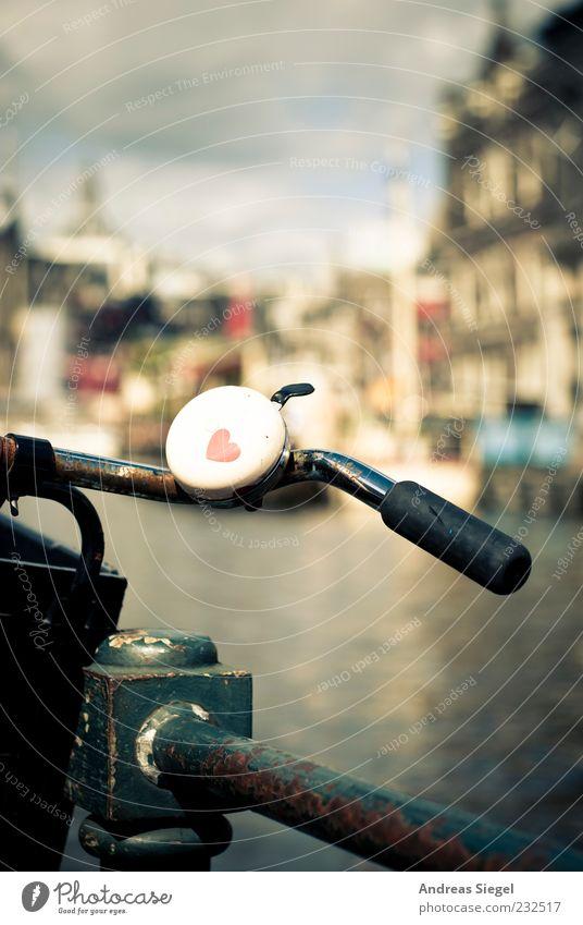 Fahrradliebe Lifestyle Freizeit & Hobby Ferien & Urlaub & Reisen Ausflug Städtereise Sommer Amsterdam Stadt Stadtzentrum Geländer Verkehr Verkehrsmittel