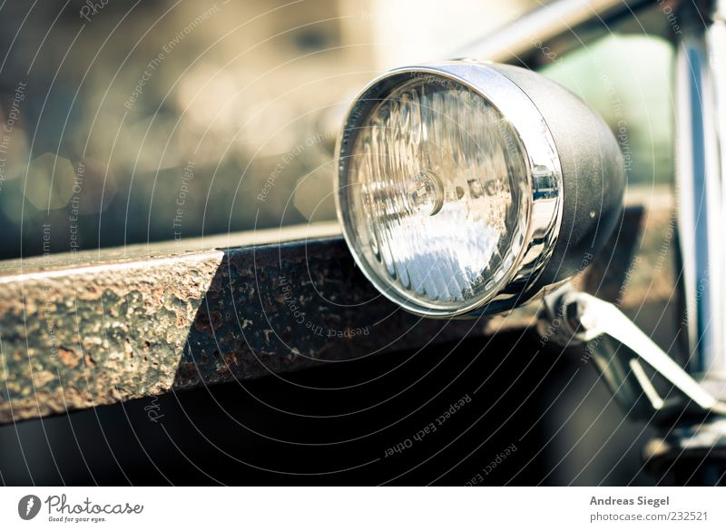SGD II Lampe hell Fahrrad Metall Verkehr ästhetisch retro authentisch außergewöhnlich silber Geländer Chrom Verkehrsmittel Fahrradlicht