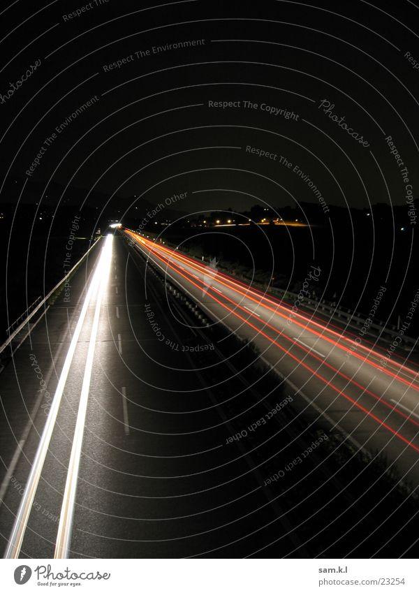 moving lights 2 Langzeitbelichtung Autobahn Verkehr Straße