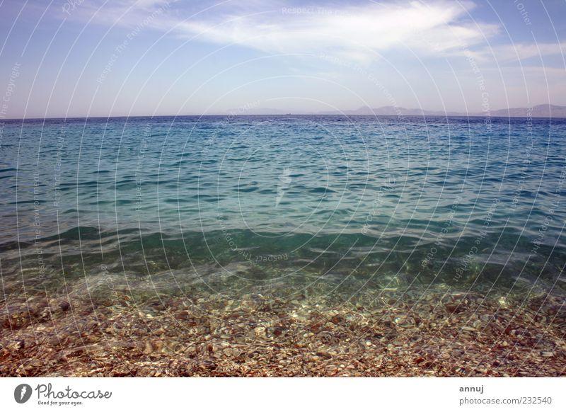Himmel Natur Wasser weiß blau Sonne Sommer Strand Ferien & Urlaub & Reisen Meer Ferne Freiheit Sand Stimmung Luft Wetter