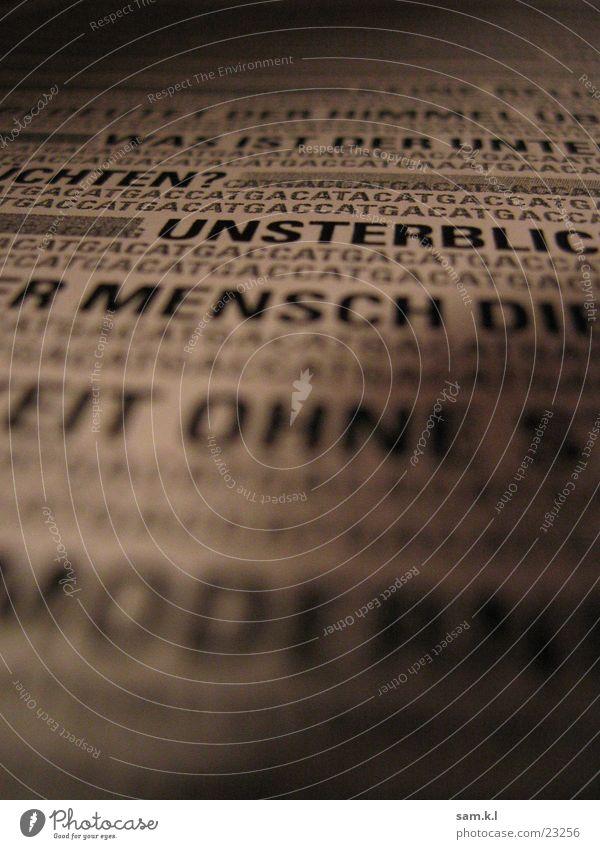 Schattengeschichte Mensch dunkel Buch Ewigkeit Buchstaben Vergangenheit Information Gedanke Text Moral Wort Zeile Medien