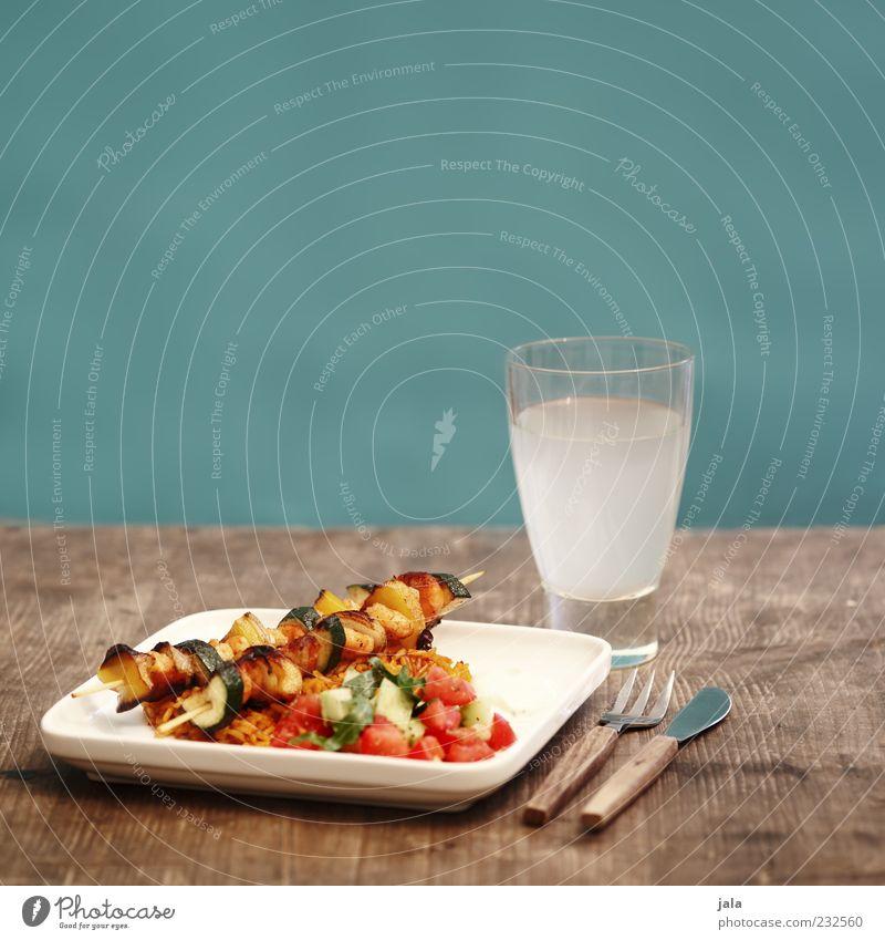 gemüsespieße Lebensmittel Gemüse Reis Tomatensalat Ernährung Mittagessen Bioprodukte Vegetarische Ernährung Slowfood Getränk Erfrischungsgetränk Limonade