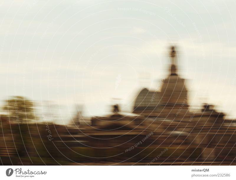 Dresden - wisch und weg I Stadt Religion & Glaube Geschwindigkeit Dach Kultur Hauptstadt Weltkulturerbe Strukturen & Formen abstrakt Frauenkirche