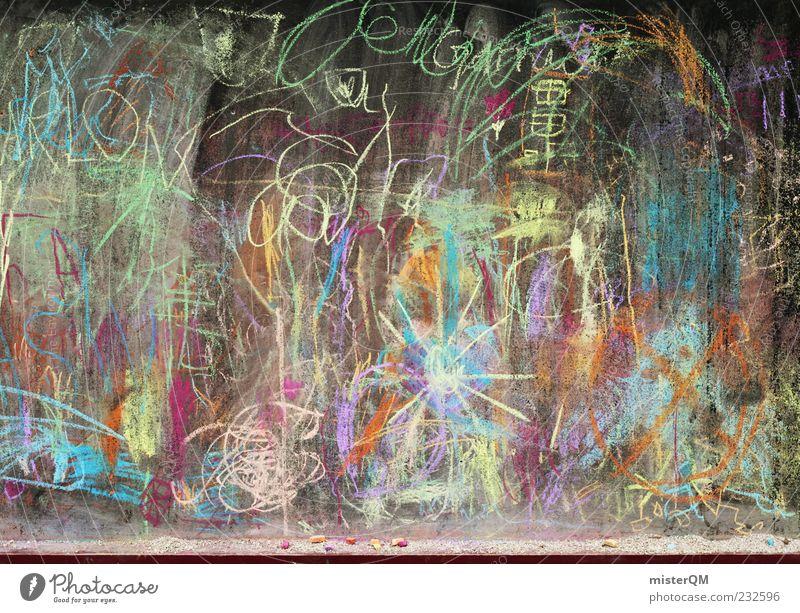 Kinderspielplatz. Sonne Kindheit ästhetisch Zukunft Kindheitserinnerung malen Kreativität Idee Kreide Kindergarten Phantasie Natur gestalten Schmiererei Spielen