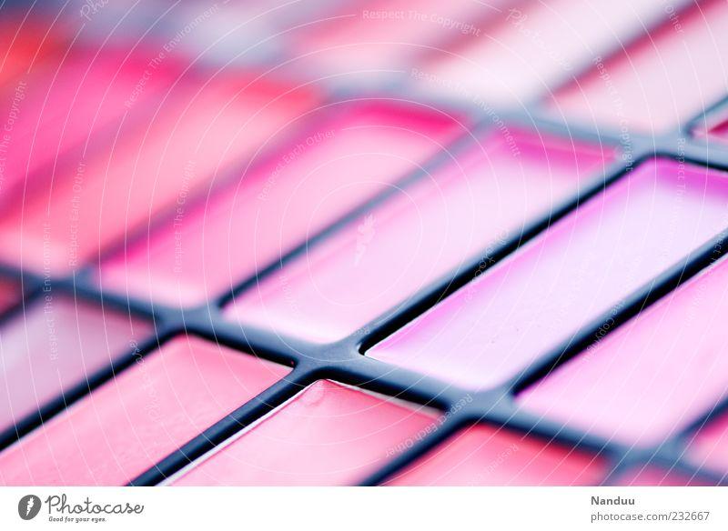 Die Welt ist Pink. schön Lippenstift Kitsch Visagist Kosmetik Farbe rosa Paletten Lipgloss Farbverlauf Farbton Unschärfe Farbfoto mehrfarbig Studioaufnahme