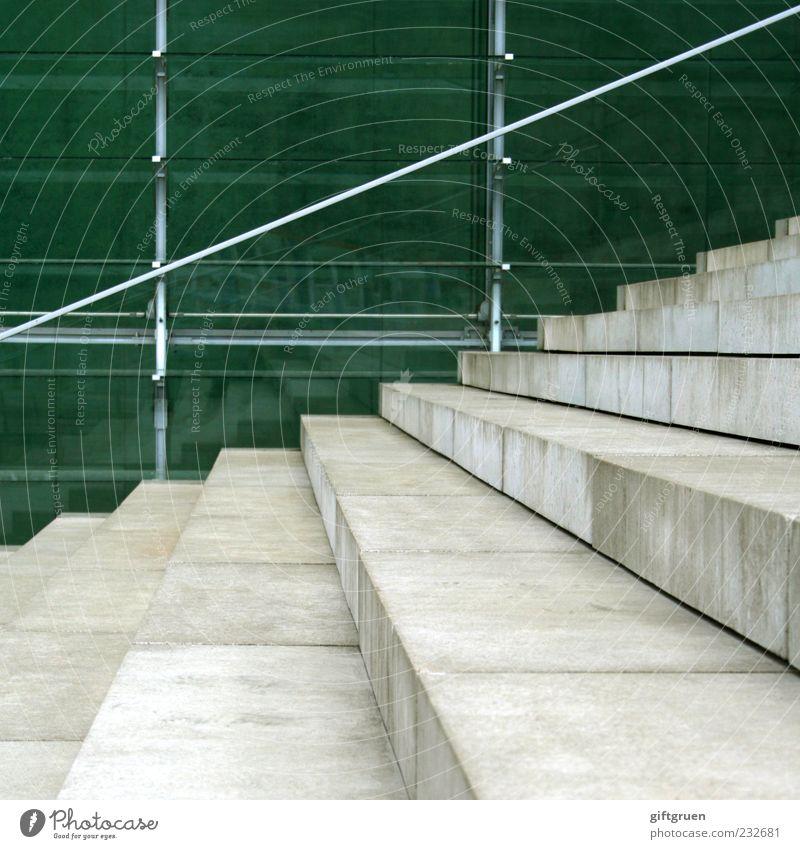 staircase Wand Architektur Stein Mauer Gebäude Glas Fassade Treppe modern Perspektive Geländer Quadrat Treppengeländer aufwärts abwärts Glasscheibe