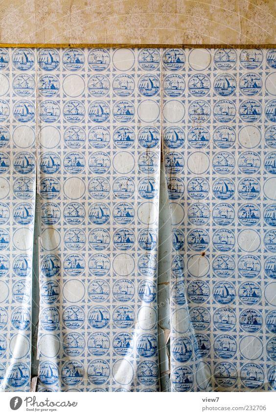sailing away Renovieren Umzug (Wohnungswechsel) Dekoration & Verzierung Linie Streifen alt ästhetisch authentisch einfach kaputt blau braun Qualität Verfall