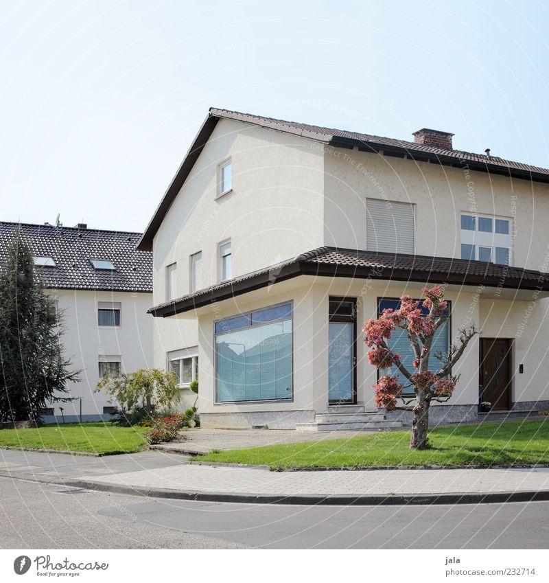 wohn- und geschäftshaus Himmel Pflanze Baum Sträucher Haus Einfamilienhaus Bauwerk Gebäude Architektur Fenster Tür Straße Ladengeschäft Ladenfront Vorgarten