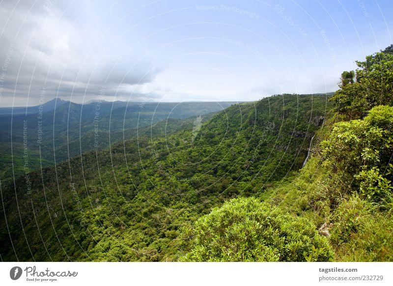 WETTERGRENZE Wetter Meteorologie Wetterumschwung Ferien & Urlaub & Reisen Mauritius Berge u. Gebirge Insel Urwald Pflanze Natur Aussicht Fernweh Ferne Farbfoto