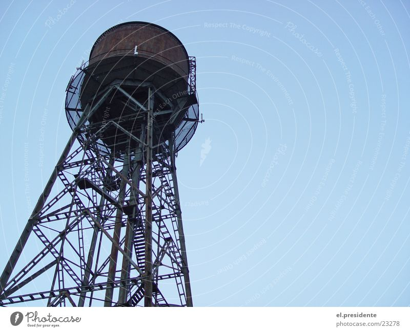 wasserturm Wasser Himmel Perspektive Industrie Turm Stahl Rost Ruhrgebiet Bochum Wasserturm