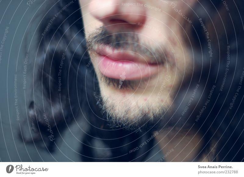 mehr als. Mensch Jugendliche Erwachsene Kopf Haare & Frisuren Zufriedenheit Mund Nase maskulin außergewöhnlich einzigartig 18-30 Jahre Lippen Bart Locken langhaarig
