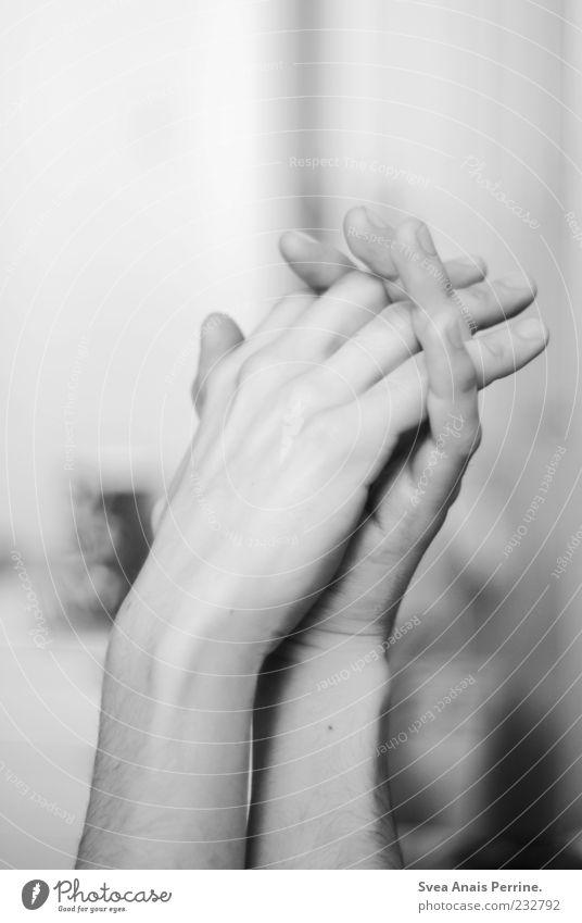 500! maskulin Arme Hand 18-30 Jahre Jugendliche Erwachsene festhalten genießen außergewöhnlich hell schön einzigartig dünn Gefühle handlich zart Schwarzweißfoto