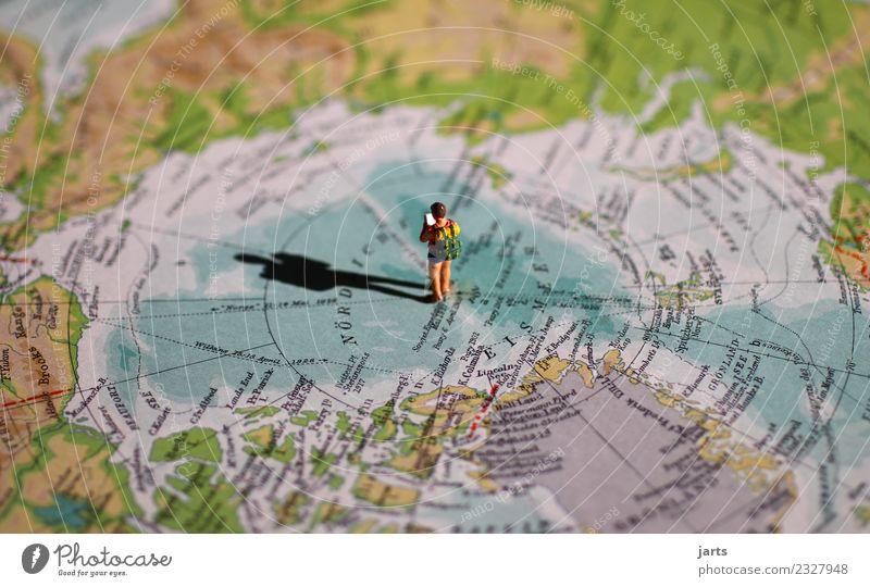 allein II Mensch 1 Schönes Wetter Meer Wüste lesen Ferien & Urlaub & Reisen wandern natürlich Abenteuer Klima Lebensfreude Polarmeer Nordpol Einsamkeit Farbfoto