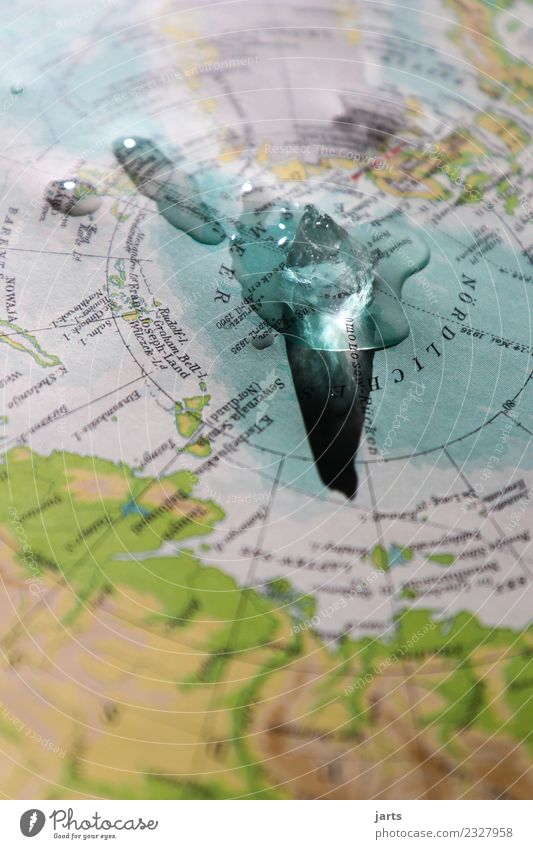 Klimawandel Wasser Meer Wärme Umwelt kalt Küste Eis Insel gefährlich Zukunftsangst Frost Flüssigkeit Umweltschutz Umweltverschmutzung