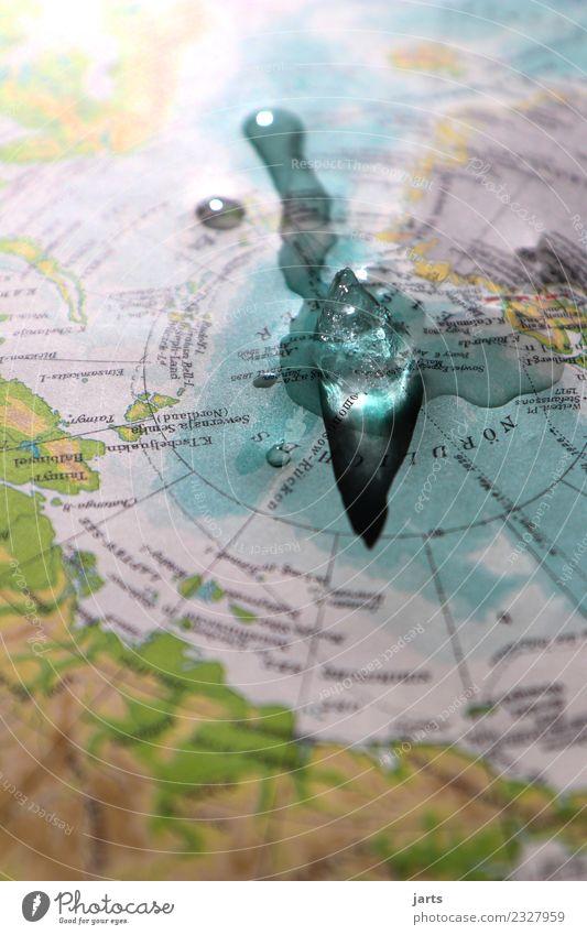 schmelze Umwelt Wasser Klimawandel Küste Meer frieren groß kalt nass natürlich Schutz Reue Natur Nordpol Eismeer Eisberg schmelzen tauen Zukunftsangst Farbfoto