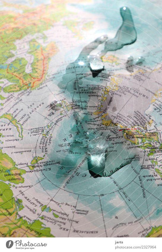 es taut Landschaft Wasser Klimawandel Eis Frost Küste Meer bedrohlich Flüssigkeit kalt nass natürlich Verantwortung Zukunftsangst gefährlich ignorant Nordpol