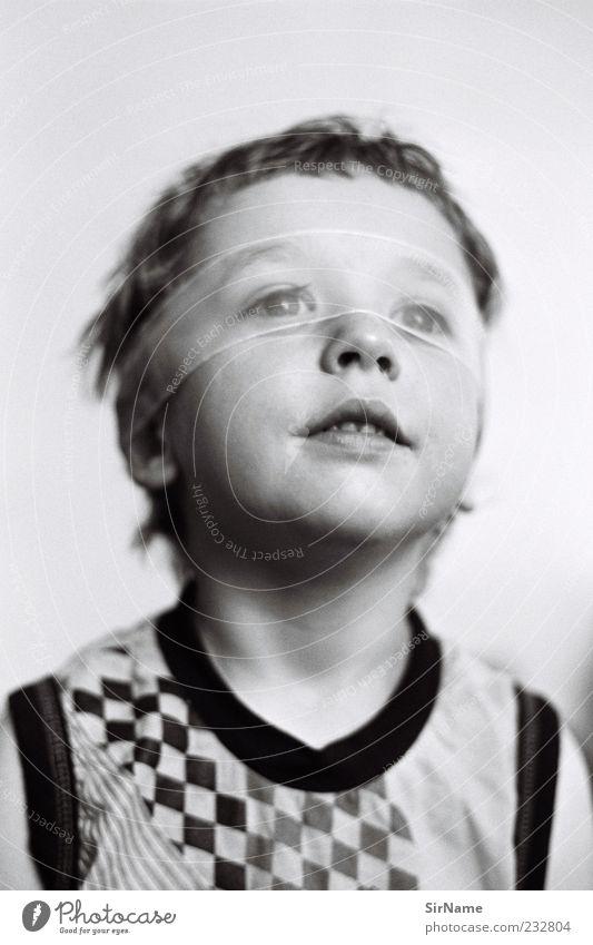 159 [superboy!] Mensch Kind schön Junge Glück natürlich Kindheit Lächeln beobachten retro T-Shirt Vertrauen Kleinkind entdecken durchsichtig Identität