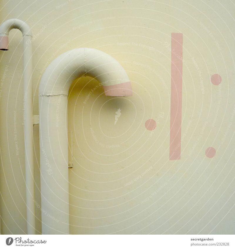 überwiegend rechtsdrehende kulturen. Kunst Kunstwerk Skulptur Mauer Wand Fassade Dekoration & Verzierung Beton Stahl Ornament Linie rund gelb rosa Farbe Kitsch