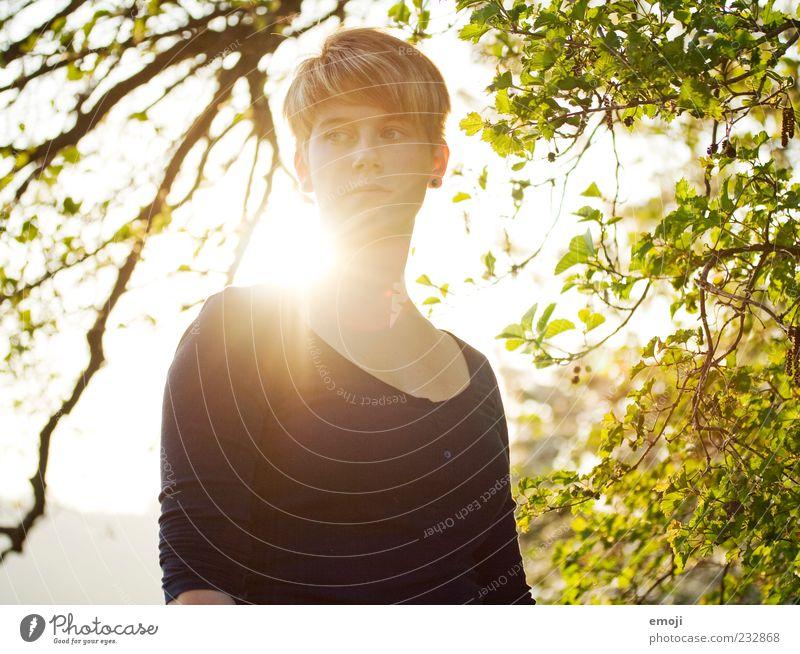 Sonnenschein 1 + 2 Mensch Natur Jugendliche schön Baum Sonne Blatt Erwachsene feminin Wärme Frühling natürlich 18-30 Jahre Junge Frau Porträt kurzhaarig
