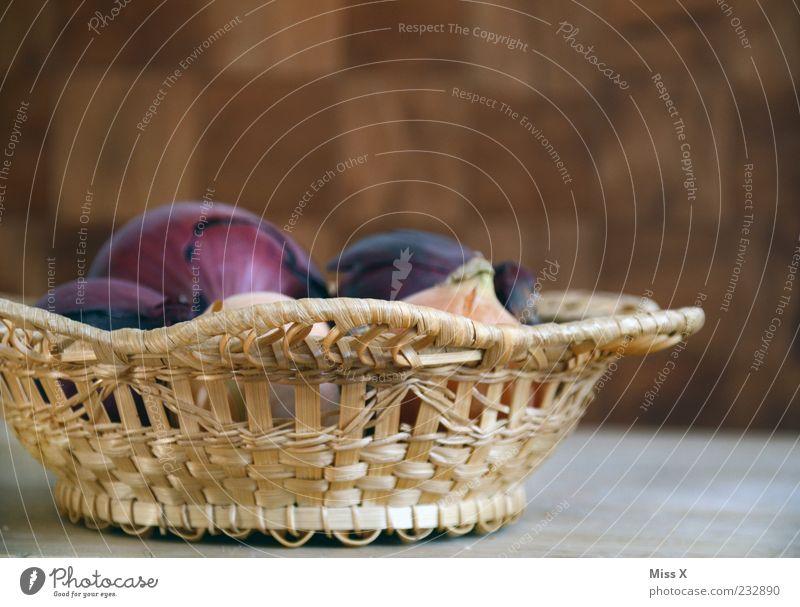 Zwiebel rot Ernährung Lebensmittel liegen violett Gemüse Bioprodukte Korb Schalen & Schüsseln