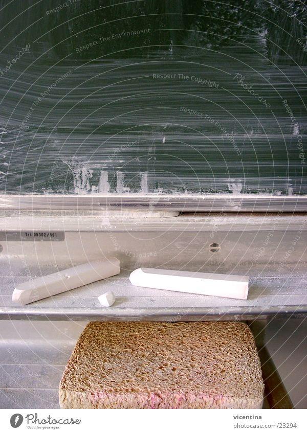 Schultafel grün Hintergrundbild Wissenschaften Schule Schilder & Markierungen Kreide Schwamm ruhig